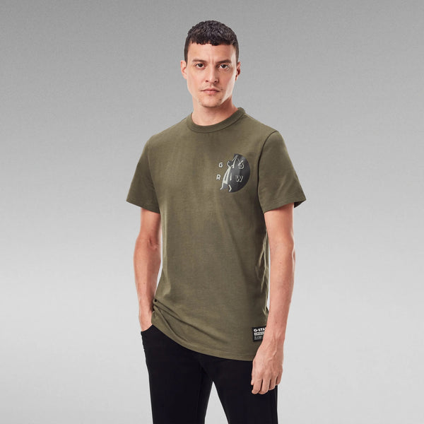 G-STAR RAW: GS RAW HAMMER T-SHIRT (COMBAT)