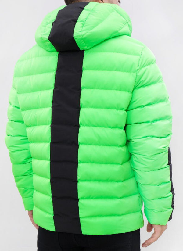 ROKU: ROKU Tear Drip Bubble Jacket (Lime Green)