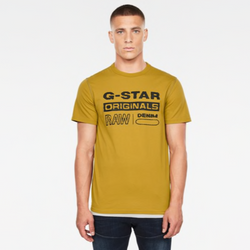 G-STAR RAW: WAVY LOGO ORIGINALS T-SHIRT (Green Sulphur)