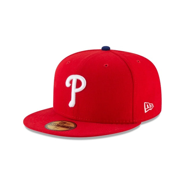 New Era Authentic 59Fifty Fitted: Philadelphia Phillies P (Red)