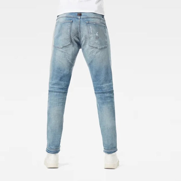 G-STAR RAW: 5620 3D ZIP KNEE SKINNY Denim Jeans (Vintage Cool Aqua Restored)