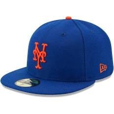 New Era Authentic 59Fifty Fitted: New York Mets (Blue/Orange)