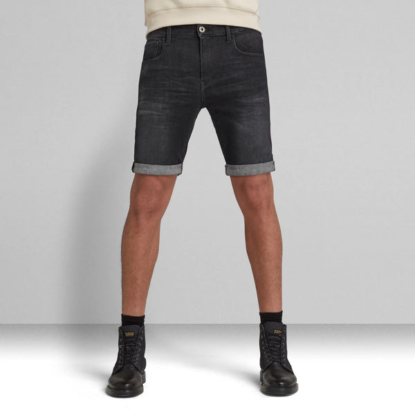 G-STAR RAW: 3301 SLIM SHORTS (Medium Aged Grey)