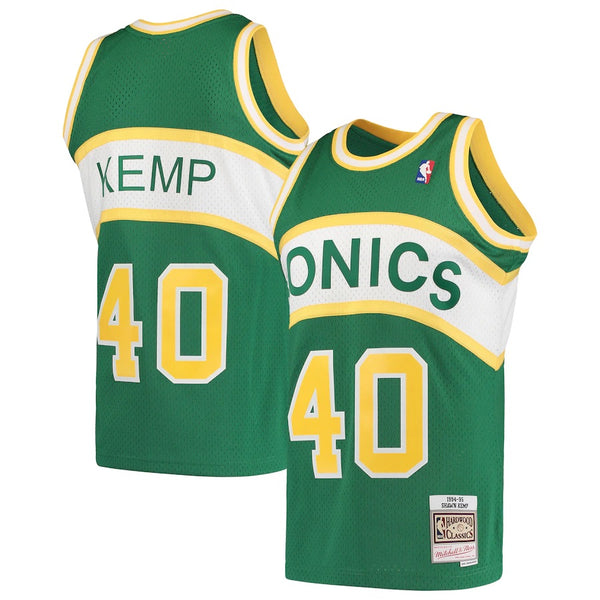 Mitchell & Ness NBA Swingman Collection Shawn Kemp Jersey ('94 SuperSonics - Home)