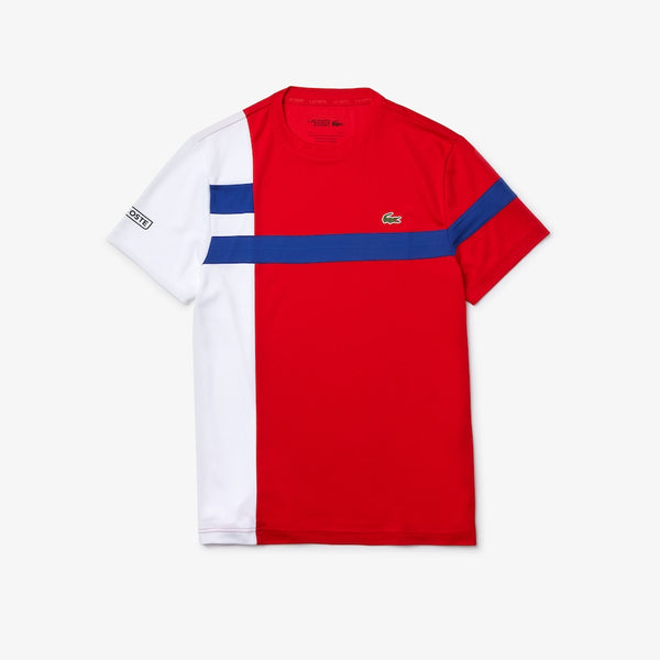 Lacoste: Men's SPORT Colourblock Breathable Piqué Tennis T-shirt