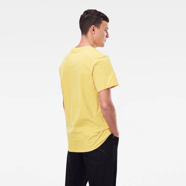 G-STAR RAW: ORIGINAL STRIPE LOGO T-SHIRT (YELLOW CAB)