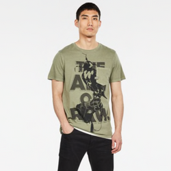 G-Star Raw: BIRD POCKET GRAPHIC T-SHIRT (Shamrock)
