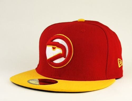 New Era Authentic 59Fifty Fitted: Atlanta Hawks (Red/yellow)