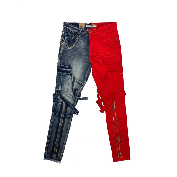REELISTIK: Split Denim (Blue Red)