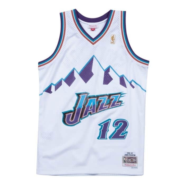 Mitchell & Ness NBA Swingman Collection John Stockton Jersey ('96-'97 Jazz- Home)