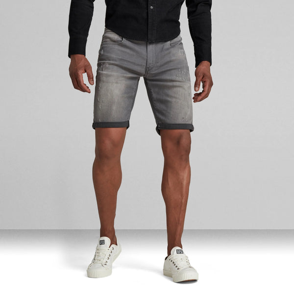G-STAR RAW: 3301 SLIM SHORTS (LIGHT AGED DESTROYED)