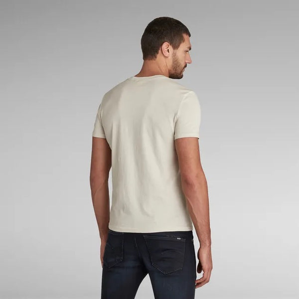 G-STAR RAW: OBJECT RAW SLIM T-SHIRT (WHITEBAIT)