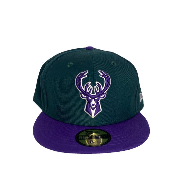 New Era Authentic 59Fifty Fitted: Milwaukee Bucks (Green/Purple)
