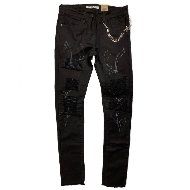 REELISTIK: Dripped & Ripped Denim (Black)