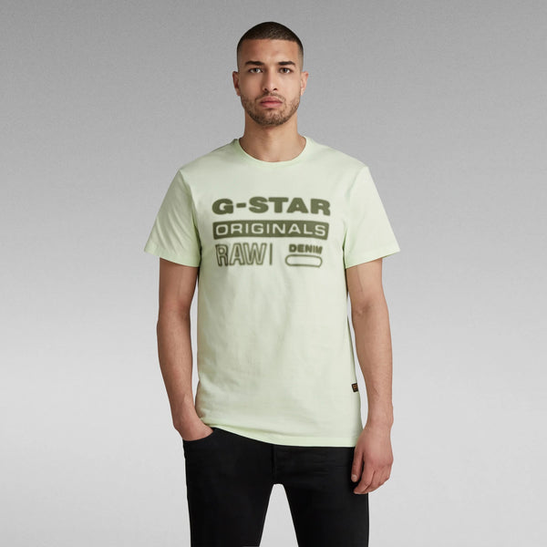 G-STAR RAW: ORIGINALS HD GRAPHIC T-SHIRT (BRIGHT PISTACHE)