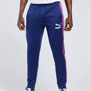 PUMA : ICONIC T7 TRACK PANTS PT (S) ( BLUE )