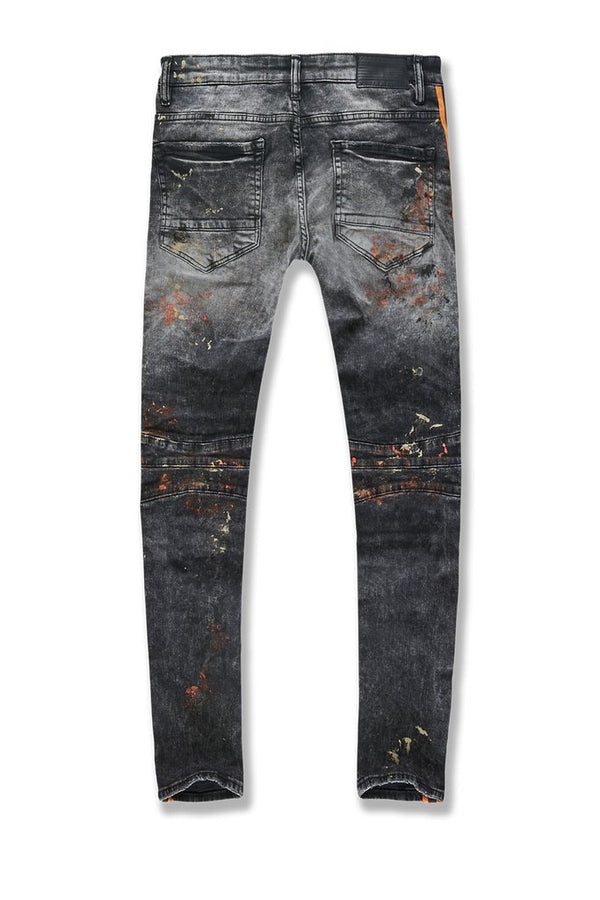 Jordan Craig: Sean Striped Renegade Moto Denim (Winter Black)