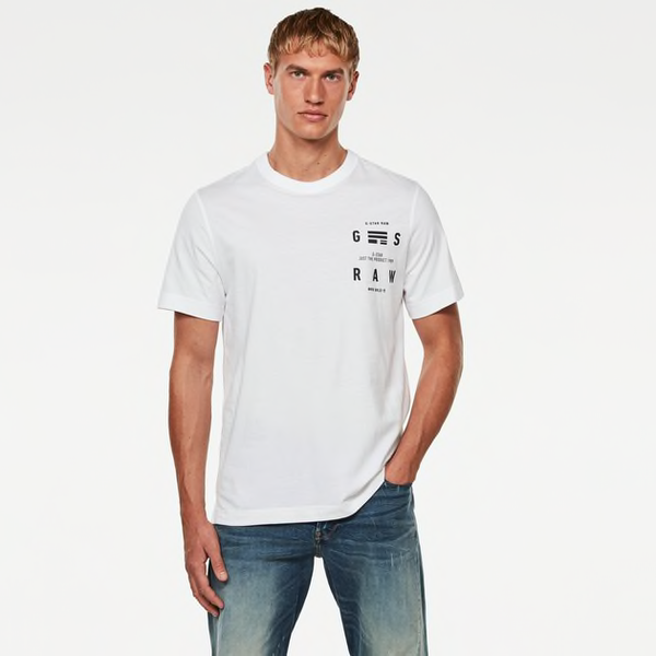 G-STAR RAW: BACK GRAPHIC LOGO T-SHIRT (White)