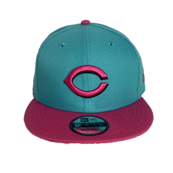 New Era Authentic 59Fifty SnapBack : Cincinnati Reds (Aqua/Pink)