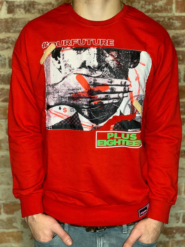 Plus Eighteen: Our Future Crewneck (Red)