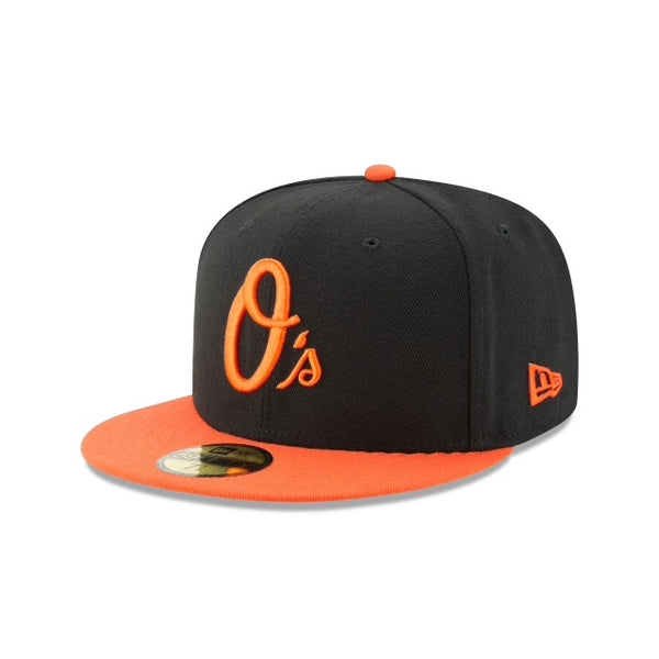 New Era Authentic 59Fifty Fitted: Baltimore Orioles (Black/Orange)