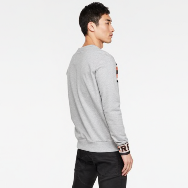G-Star Raw: GSRAW JACQUARD SWT L\S Sweatshirt (Grey Htr)
