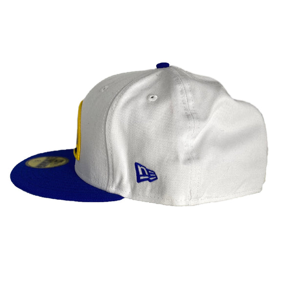 New Era Authentic 59Fifty Fitted: Denver Nuggets Classic Logo (White/Blue)