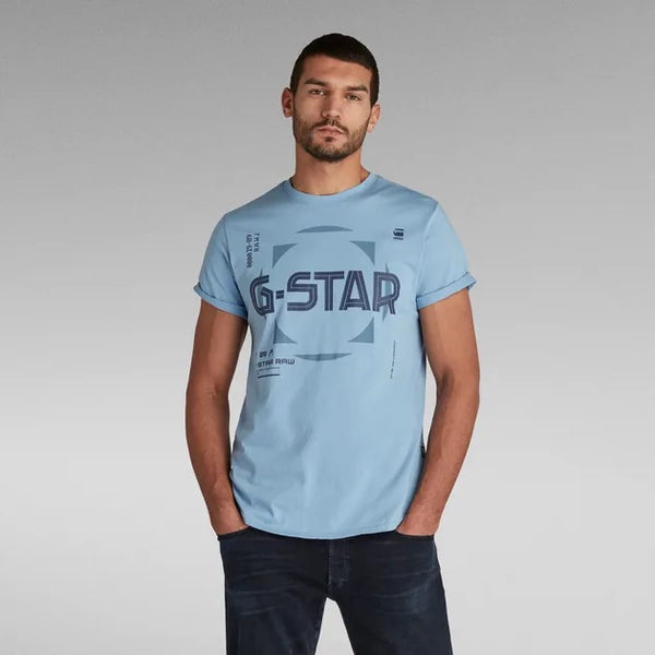G-STAR RAW: LASH GRAPHIC T-SHIRT (DELTA BLUE)