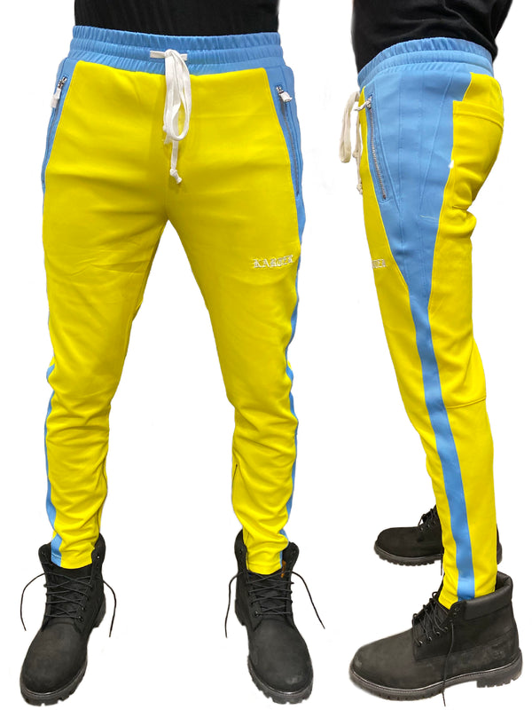 Karter Collection: Roosevelt Track Pants (Yellow/Blue)