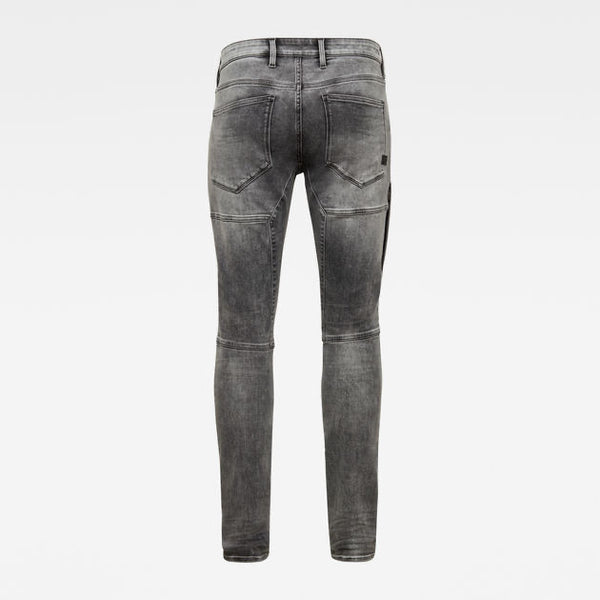 G-STAR RAW: RACKAM 3D SKINNY Denim Jeans (FADED SEAL GREY)