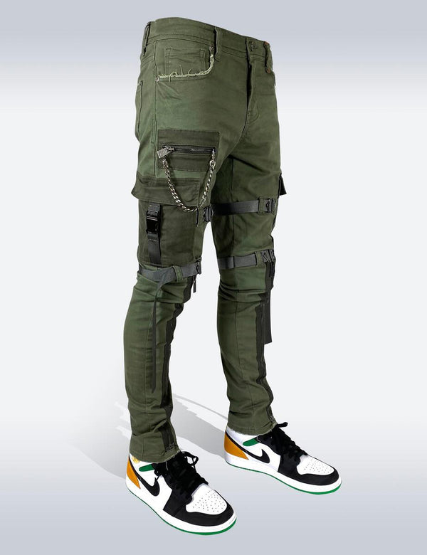 Preme: Green Utility Strapped Denim
