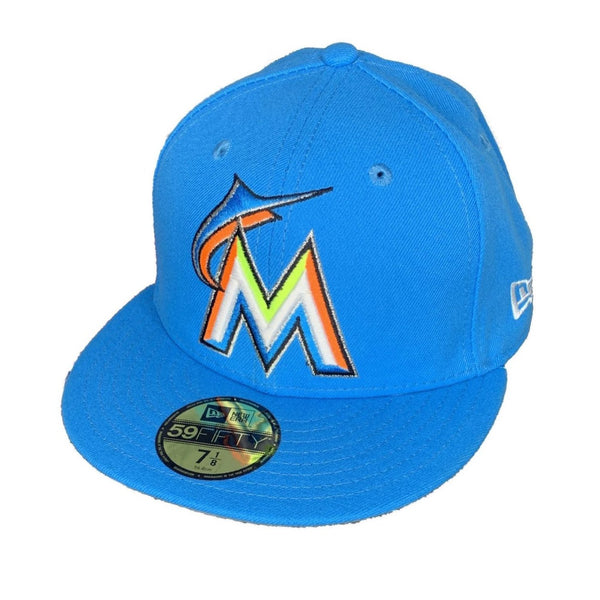 New Era Authentic 59Fifty Fitted: Miami Marlins (Blue)
