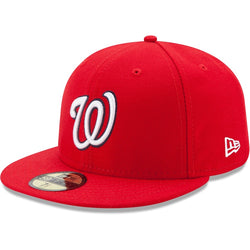New Era Authentic 59Fifty Fitted: Washington Nationals (Red)