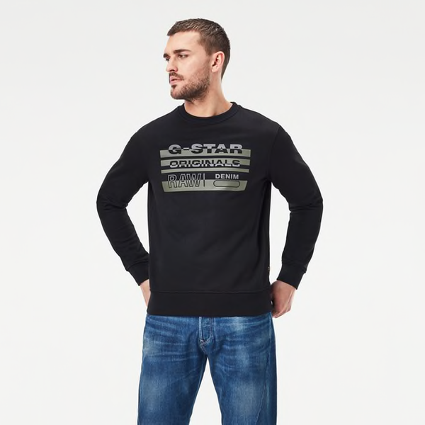 G-Star Raw: ORIGINALS SWEATER (Dark Black)