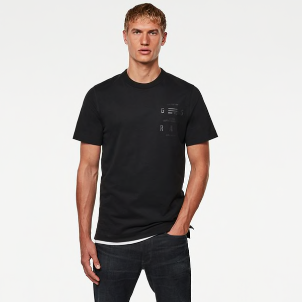 G-STAR RAW: BACK GRAPHIC LOGO T-SHIRT (Dark Black)