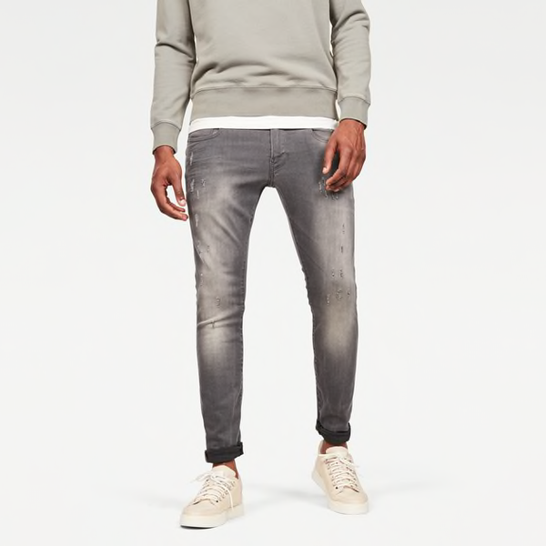 G-STAR RAW: REVEND SKINNY Denim Jeans (LIGHT AGED DESTROY)