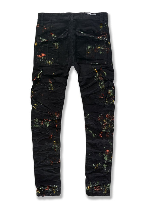 Jordan Craig: Sean Highland Stacked Cargo Pants (Painted Black Shadow)