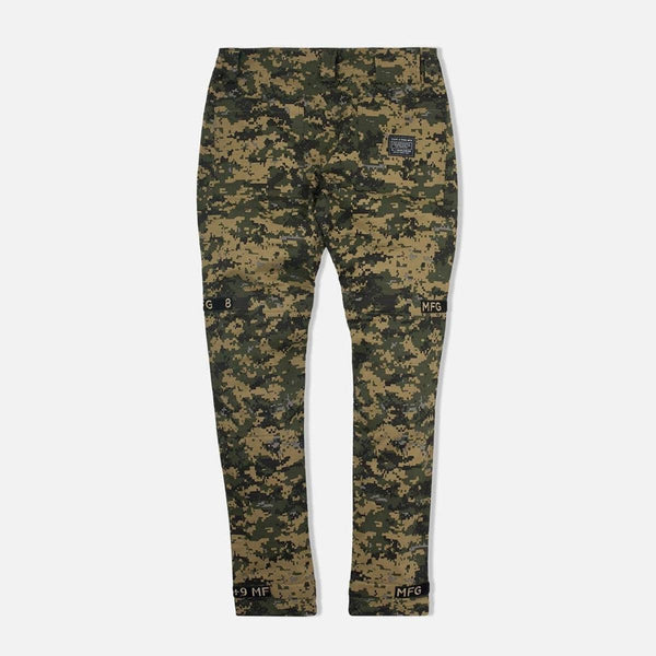 8&9: Strapped Up Vintage Utility Pants (Tan Digi Camo Fatigue)