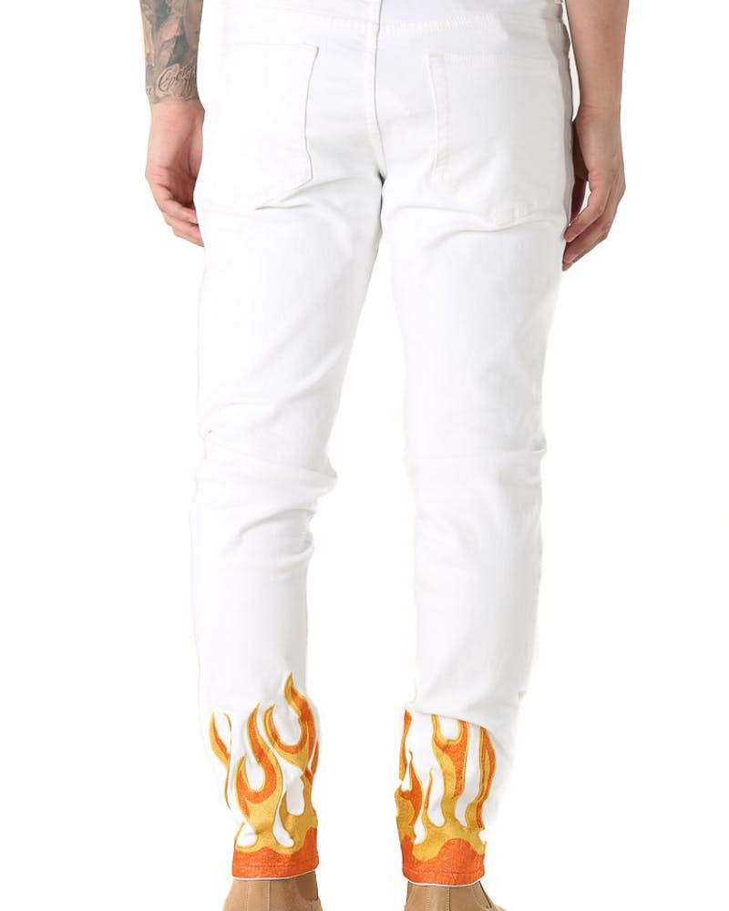 Embellish: FLAME DENIM - WHITE
