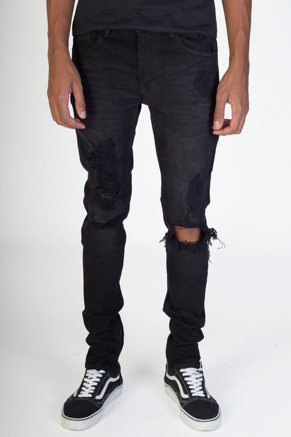 KDNK: Comfort Stretch Denim (Rip & Zip)