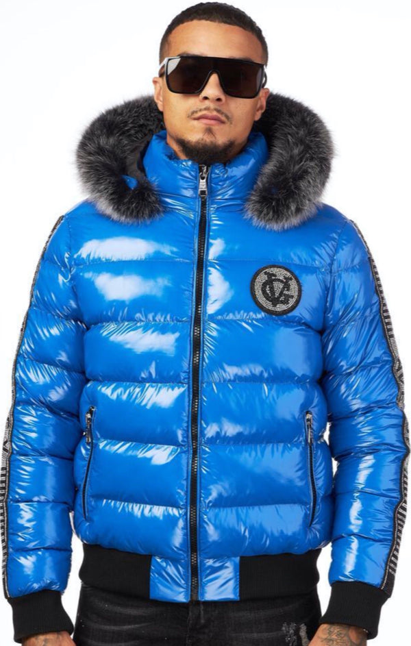 George V: GV - 9472 (Rich Blue) Bubble Jacket