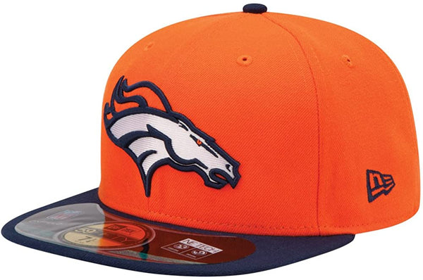 New Era Authentic 59Fifty Fitted: Denver Broncos (Orange/Navy)