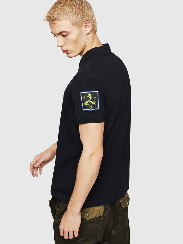 DIESEL: T-POLO-PATCHES SHIRT