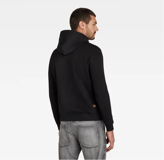 G-Star Raw: PREMIUM CORE HOODED SWEATER (Dark Black)