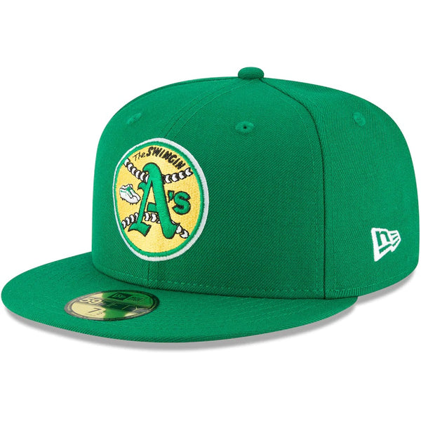 New Era Authentic 59Fifty Fitted: Oakland Swingin' A's (Green)