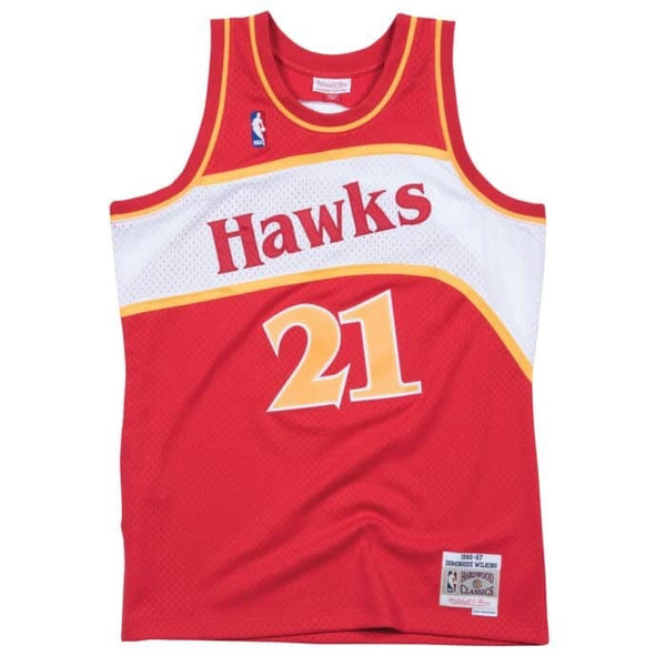 Mitchell & Ness NBA Swingman Collection Dominique Wilkins Jersey ('86 Hawks - Road)