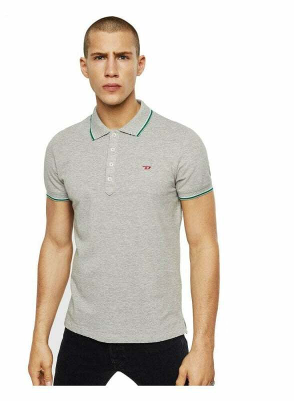 DIESEL: T-RANDY-NEW POLO SHIRT (MELANGE GREY)