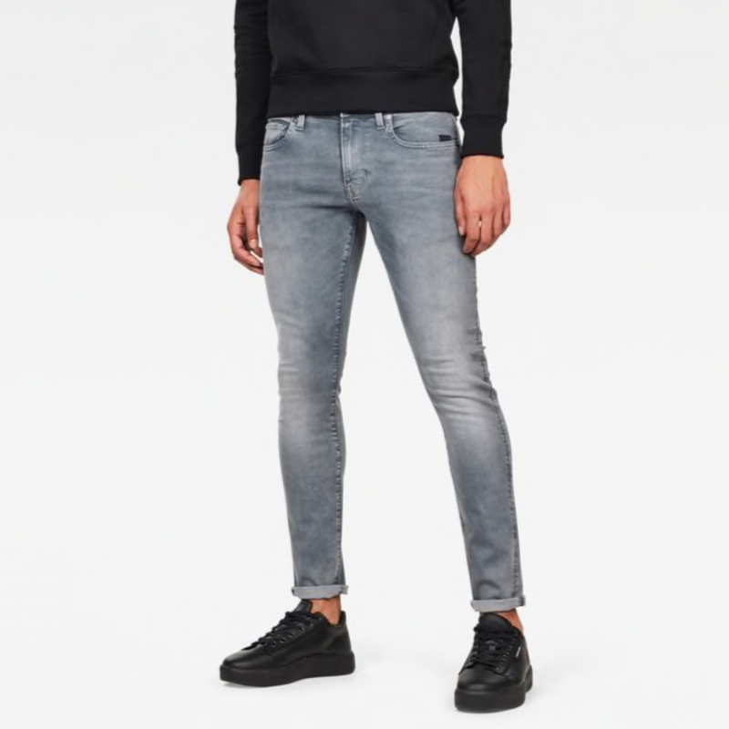 G-STAR RAW: REVEND SKINNY Denim Jeans (FADED INDUSTRIAL GREY)