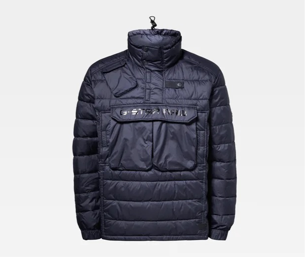 G-Star RAW: ATOLL QUILTED ANORAK JACKET (Dartho Blue)