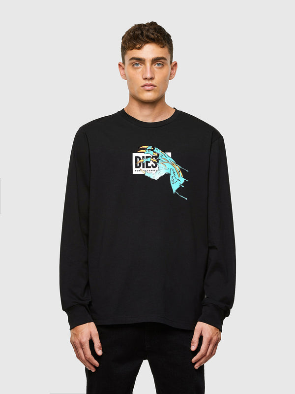 DIESEL: T-JUST LONGSLEEVE  (DEEP/BLACK)